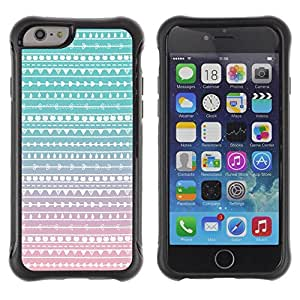 Fuerte Suave TPU GEL Caso Carcasa de Protección Funda para Apple Iphone 6 PLUS 5.5 / Business Style Pink White Chevron Pattern Native