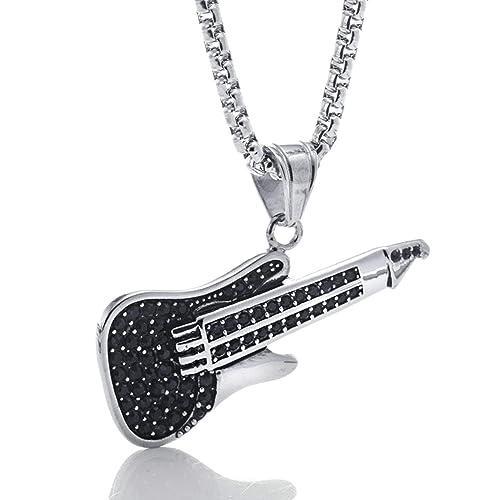 Blisfille Joyería Collares Hip Hop Diamantes Colgantes Acero ...