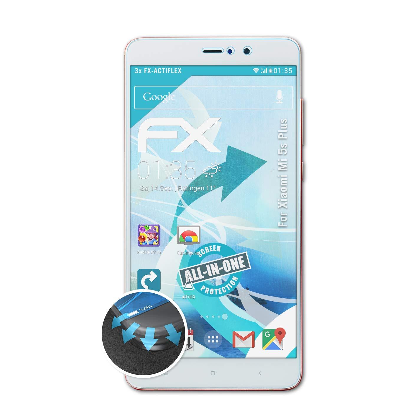 atFoliX Película Protectora Apto para Xiaomi Mi 5s Plus Protector ...