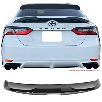 Fits 18-19 Toyota Camry Trunk Spoiler Gloss Black ABS By IKON MOTORSPORTS