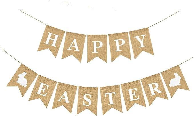 Easter Banner Easter Garland Bunny Garland Bunny Banner Spring Banner Easter Bunny Neutral Easter Banner Easter Decor