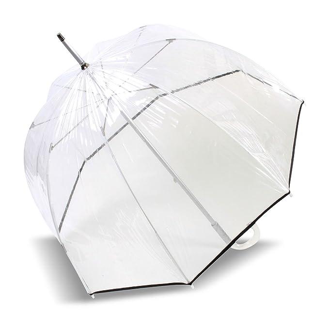 ISOTONER parapluie transparent 09357 - PVC NOIR: Amazon.es: Ropa y accesorios