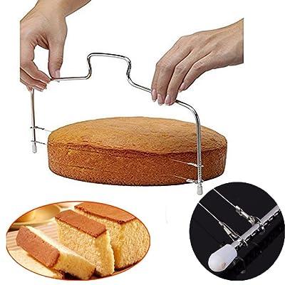 1 coupe gâteau à fil double en acier inoxydable CCINEE