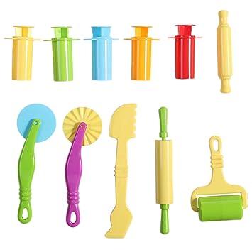 TOYMYTOY Kit de herramientas de masa inteligente con extrusoras / herramientas de masa / modelos y moldes 11pcs: Amazon.es: Juguetes y juegos