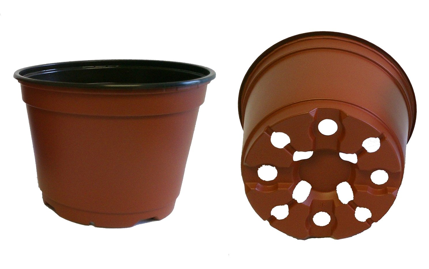 10 NEW 6 Inch TEKU Plastic Nursery Pots - Azalea Style ~ Pots ARE 6 Inch Round At the Top and 4.25 Inch Deep. Color : Terracotta by Teku