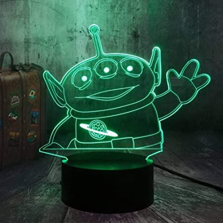 YDDLIE Cute Green Alien Toy Alien Toy Story 3D Visual Lamp ...