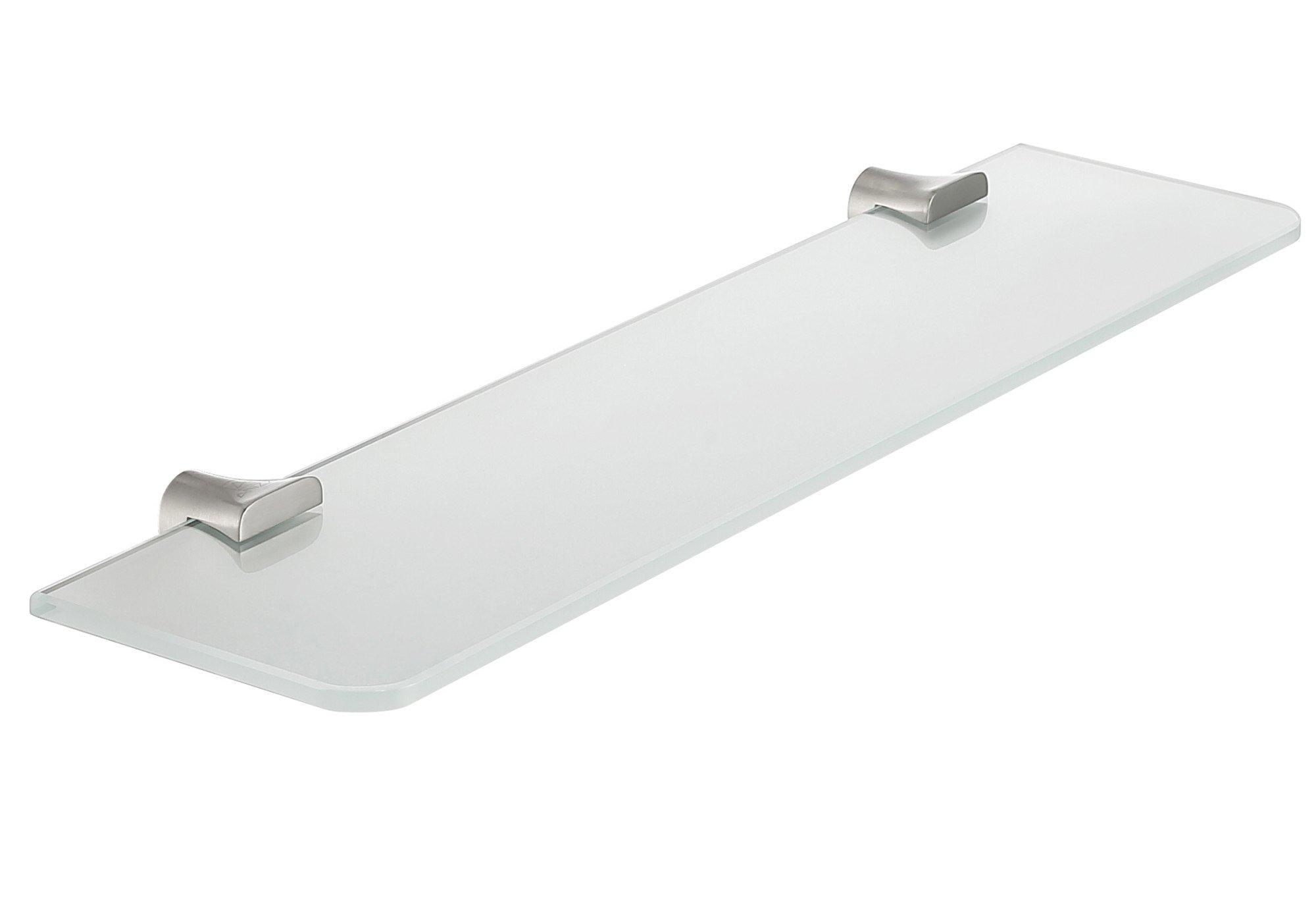 19.69'' Glass Shelf - Brushed Nickel - Essence Series AC-AZ050BN - ANZZI