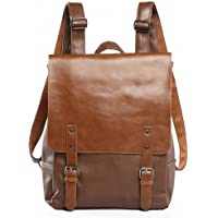 Kenox Vintage PU Leather Laptop Backpack Knapsack Rucksack Weekender Daypack Bag