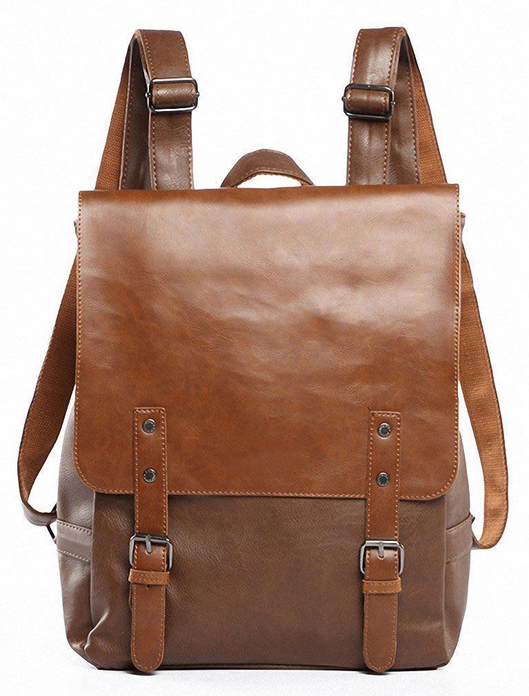 6bc5ca5599ce Kenox Vintage PU Leather Laptop Backpack Knapsack Rucksack Weekender  Daypack Bag