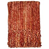 Soft Streamers 50-Inch x 60-Inch Throw Blanket (Rust)