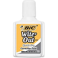 BIC Wite Out Quick Dry Correction Fluid - 20 ml, Pack of 1 Correction Bottle