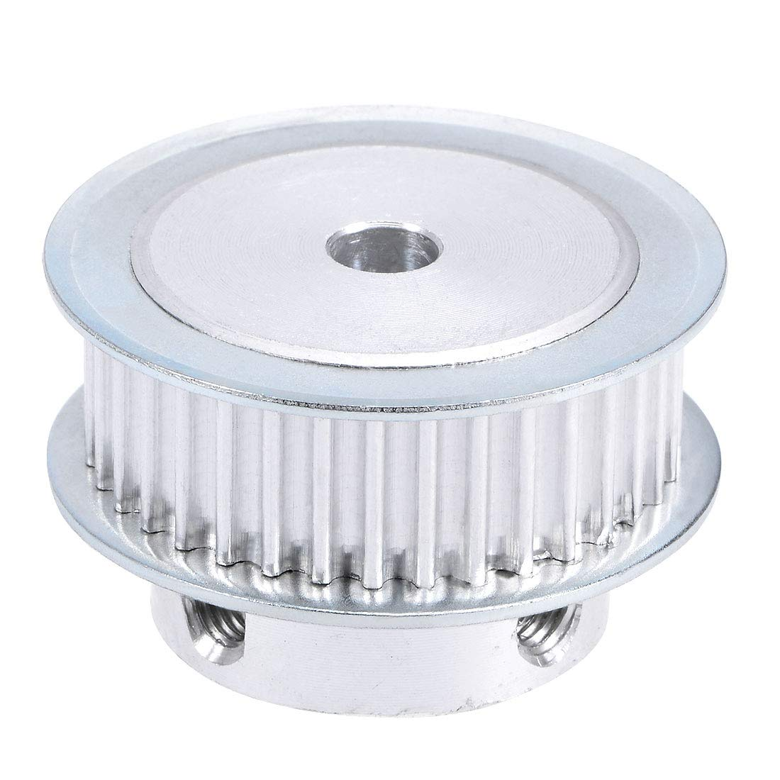 uxcell Aluminum 3M22 Teeth 5mm Bore Timing Belt Pulley Flange Synchronous Wheel for 10mm Belt 3D Printer CNC