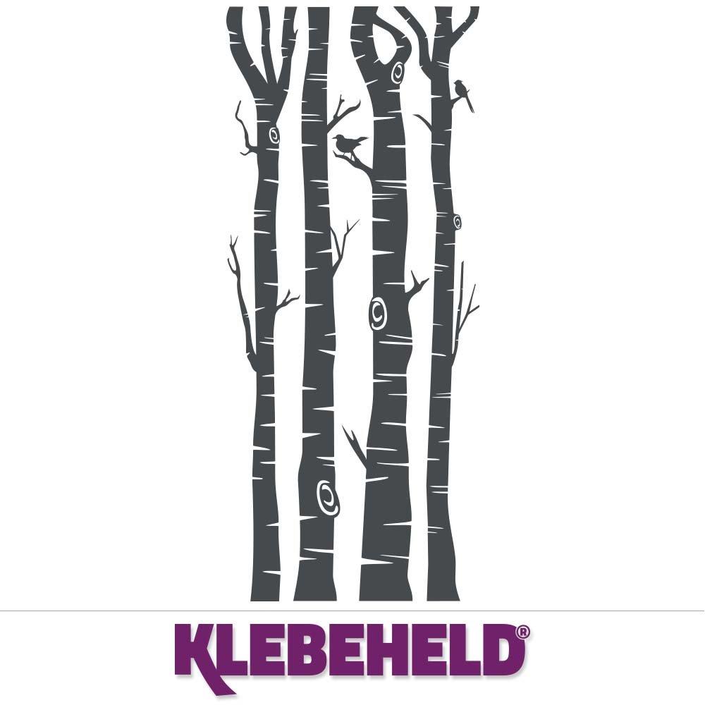 KLEBEHELD® Wandtattoo Wandtattoo Wandtattoo Birkenstämme - Birken - Stämme - Birkenstamm Farbe weiss, Größe 200cm B071X2BVLN Wandtattoos & Wandbilder bbd765