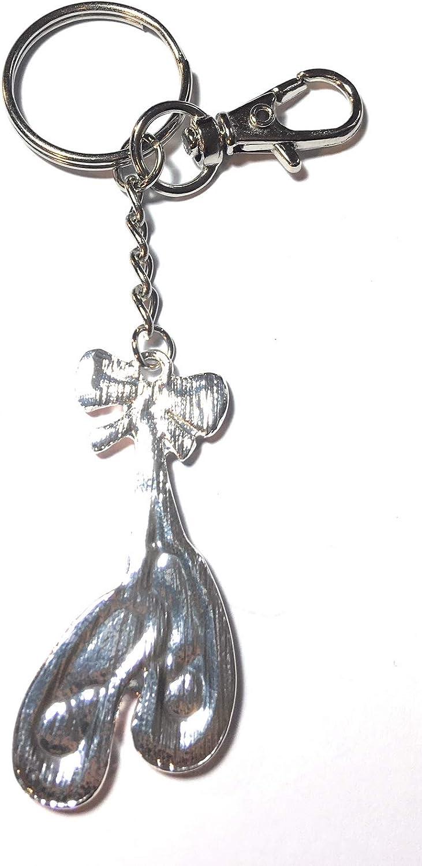 Fizzy Bouton Cadeaux Chaussures de Ballet en /émail Rose Porte-cl/és Charme de Sac /à Main de la cha/îne cl/é