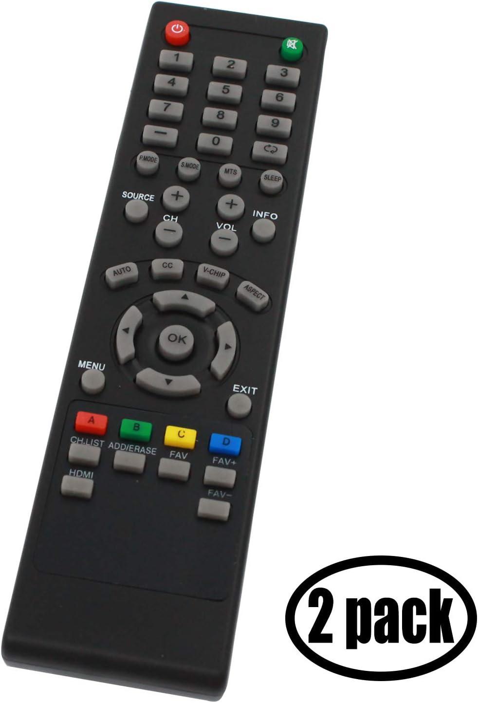 Mando a Distancia de Repuesto para Seiki 84504503B01, Compatible con Seiki SC-40FS703N TV, 2 Unidades: Amazon.es: Electrónica