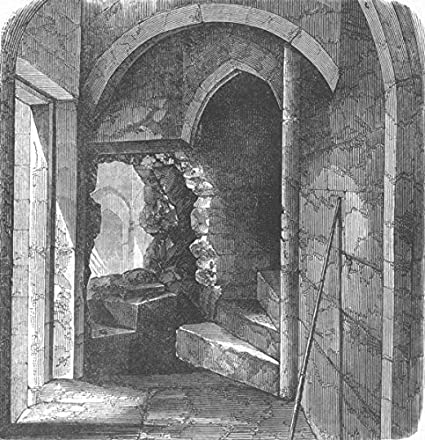Secret Stairs, Bloody Tower, Tower Of London   1868   Old Antique