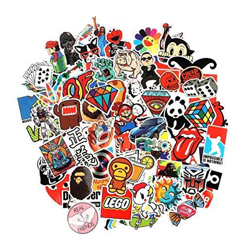 Cool Sticker 100pcs Random Music Film Vinyl Skateboard Guita