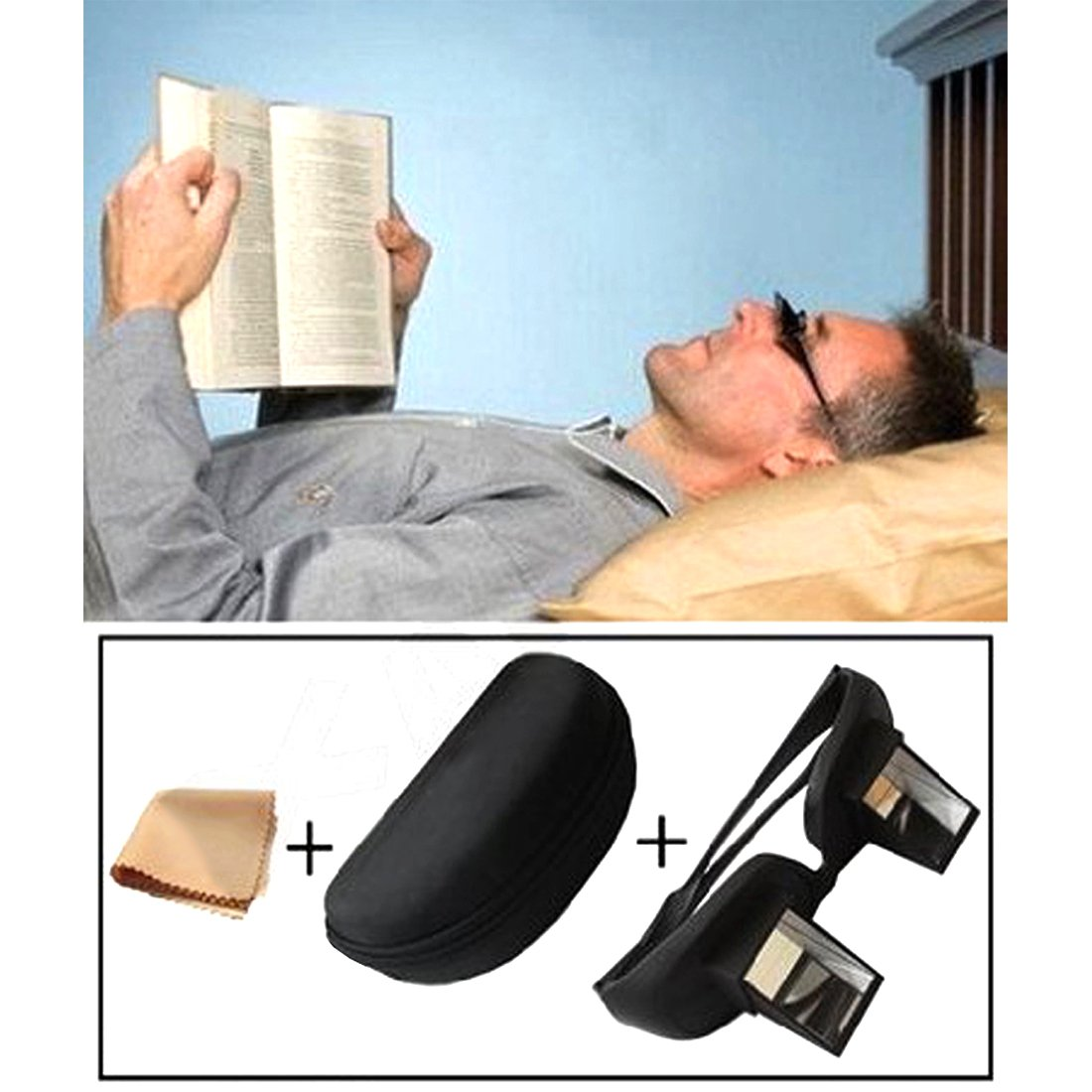 Andux Periscope Glasses Easy Lie Down on The Bed