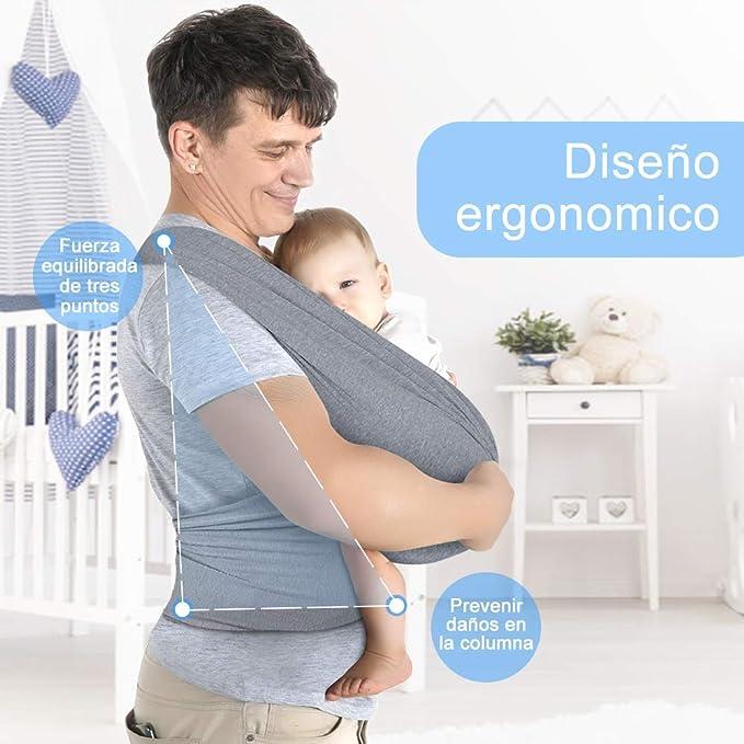 Lictin Fular Portabebés Elástico Negro Portador de Bebé ;Pañuelo ...