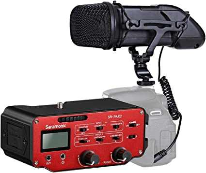 Movo DSLR Audio Bundle with Compact Stereo Video Microphone and Standard Mixer for DSLR Cameras and Camcorders