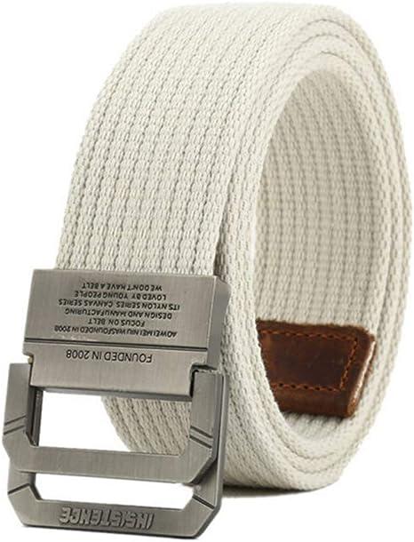 YUANZYYD Cinturón De Lona,Cinturón De Lona Blanco para Hombres Y ...