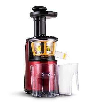 Klarstein Fruitpresso Rossa II Licuadora vertical Slow (150W potencia, 80 rev/min,