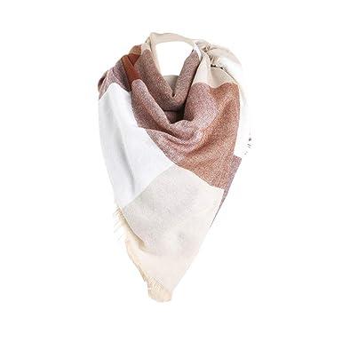96538175aeb0 Malloom Femmes Tissu en laine à laine Écharpe en coton Stitch Long Cashmere  (140