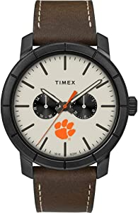 Timex Men's Clemson University Tigers Watch Home Team Leather Watch