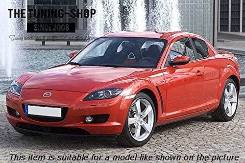 The Tuning-Shop Ltd For Mazda Rx-8 2003-2012 Manual Shift Boot Black Leather White Rx-8 Edition Embroidery 3 Panels