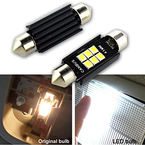 Ruiandsion Canbus - Bombillas LED de 41 mm, 12 V, 3030, 6 SMD