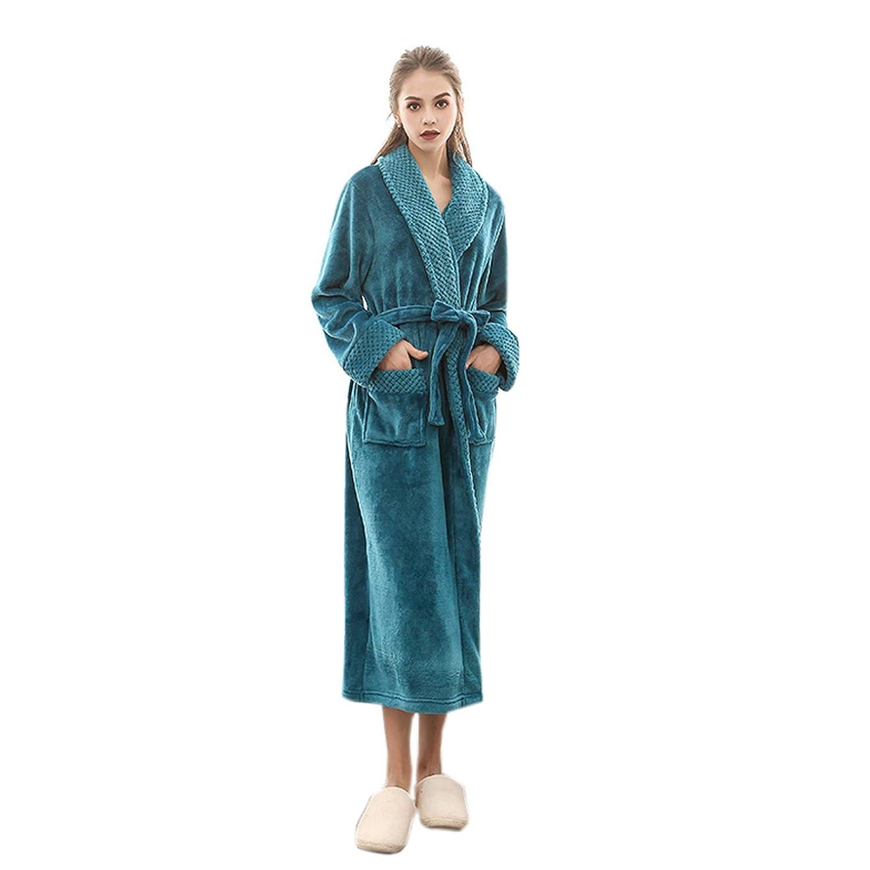 7899d25f7274b Elonglin Femme Homme Peignoir Velours Vêtements de Nuit Polaire Long Grande  Taille Robe de Bain Flanelle
