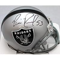 $75 » Bill Romanowski Autographed Oakland Raiders Mini Helmet - JSA W Black