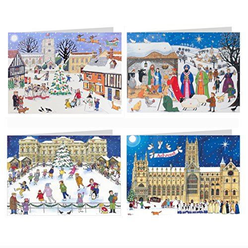 Alison Gardiner Famous Illustrator Unique Advent Christmas Calendar Cards - Beautiful Fold Out - Designed in England - Send to a Loved One