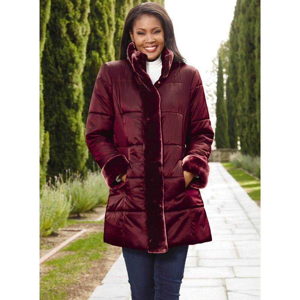 Especially Yours Faux-Fur Trim Puffer Coat by Tally Ho