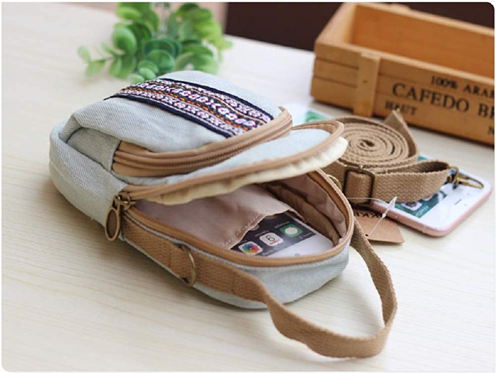 Cute Small Crossbody Purses Cell Phone Bag Case Wallet for Women Girls with Ethnic Embroidery