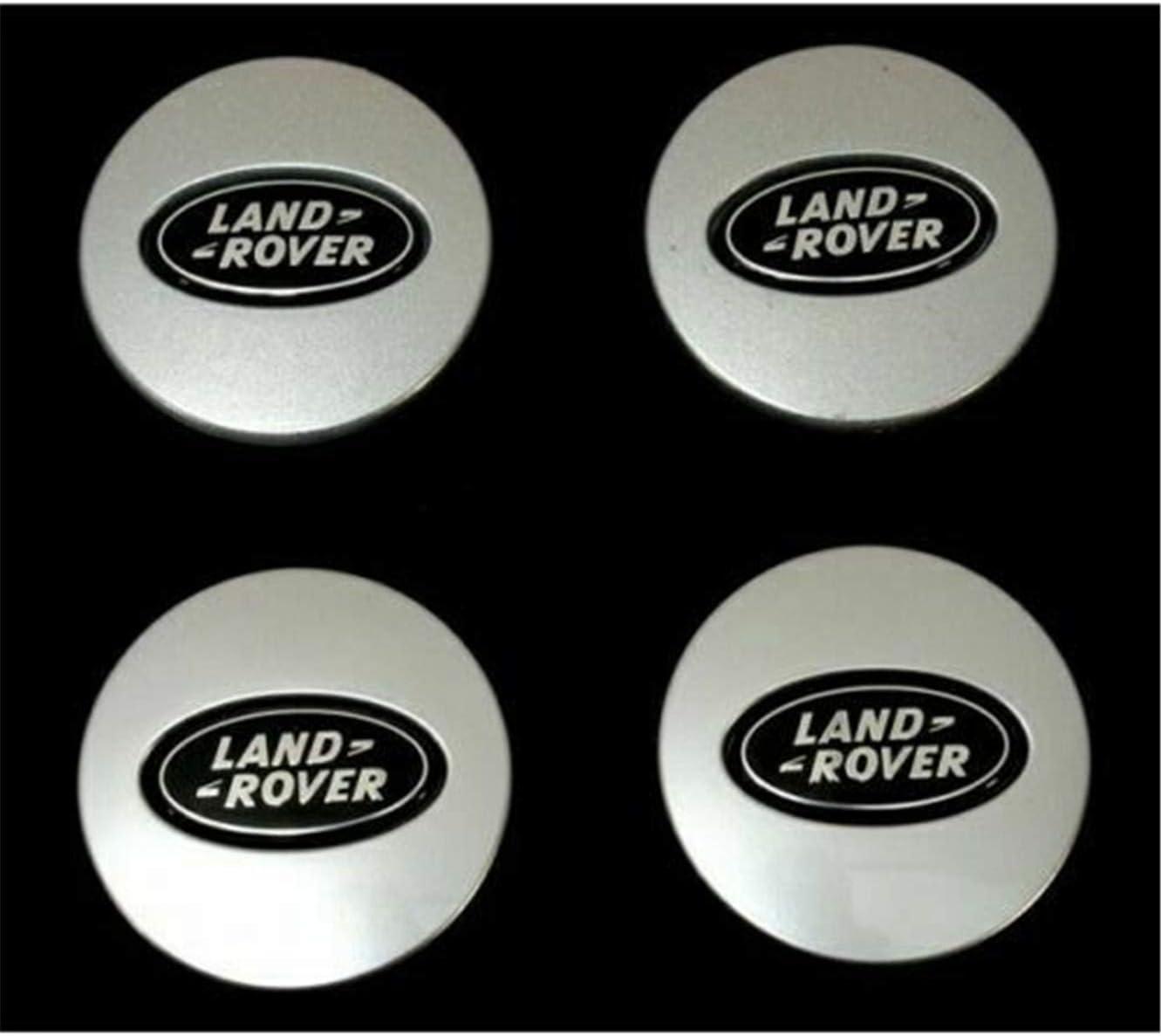 4x Land Rover alloy wheel hubcap found Freelander EVOQUE 63mm