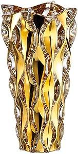 Symphony Crystal Glass Flower Vase | Handmade Luxurious Bohemian Home Decor | European Design | 12