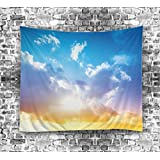 Izielad Nature Sky White Cloud Wall Hanging Tapestries