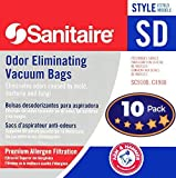 Sanitaire SD Odor Eliminating Vacuum Bags - 10 Bags. Professional Quality Filters with Arm & Hammer Baking Soda for Allergen and Odor Filtration. Model 63262 Fits SC9100, S9120, SC9150, SC9180, C4900.