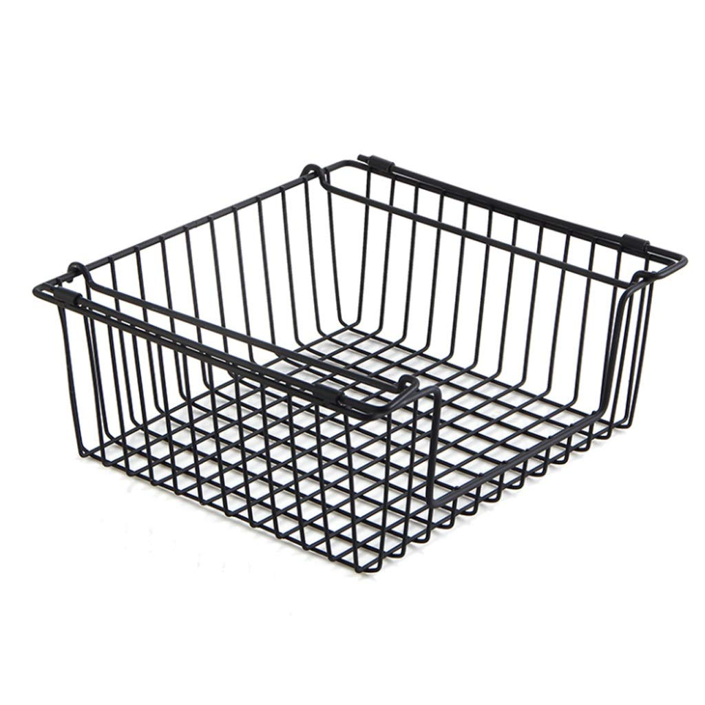 ASIERY Household Cabinet Hanging Basket Hanging Storage Rack Spice Holder Black by ASIERY