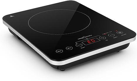 ProfiCook EKI 1062 Placa vitrocerámica por inducción portátil, 10 niveles de temperatura, 2000 W, Vidrio y cerámica, Negro