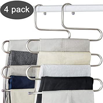 Amazon.com: DS paquete de revestimiento múltiple percha de ...