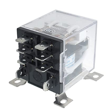amazon com: uxcell jqx-12f 2z dc 12v 30a dpdt general purpose power relay 8  pin: home improvement