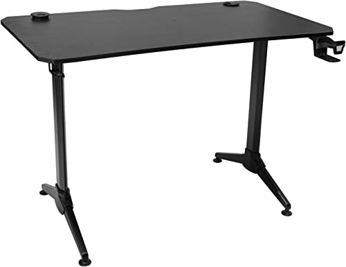 Furmax Office Desk 43.5 Modern Computer Table Gaming Desk with Cup Holder and Headphone Hook Black