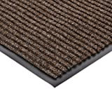 NoTrax 117 Heritage Rib Entrance Mat, for Lobbies and Indoor Entranceways, 3' Width x 4' Length x 3/8'' Thickness, Brown