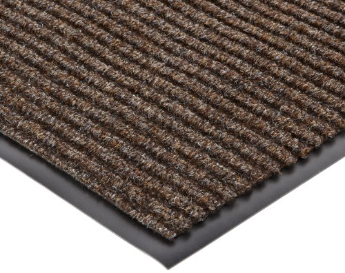 NoTrax 117 Heritage Rib Entrance Mat, for Lobbies and Indoor Entranceways, 3' Width x 4' Length x 3/8'' Thickness, Brown by NoTrax Floor Matting