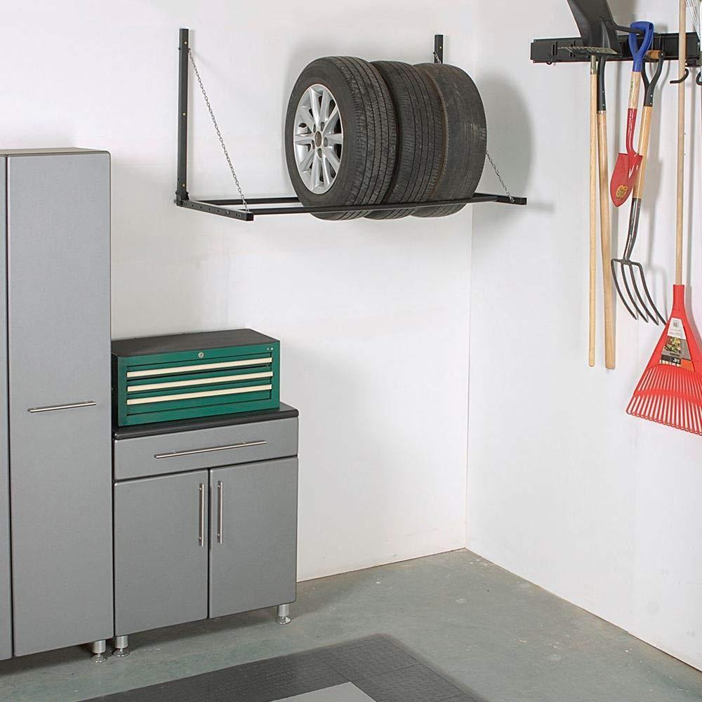 Gr8 Home Compatto a Parete Metallo Pneumatico Supporto Ruota Rack Storage Holder Rotella Garage Officina Pieghevole bay Pieghevole mensola per RV ATV Pneumatici