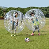 Bubble Soccer Ball Dia 1.5M 5ft Human Inflatable Bumper Bubble Ball (White 1.5M)
