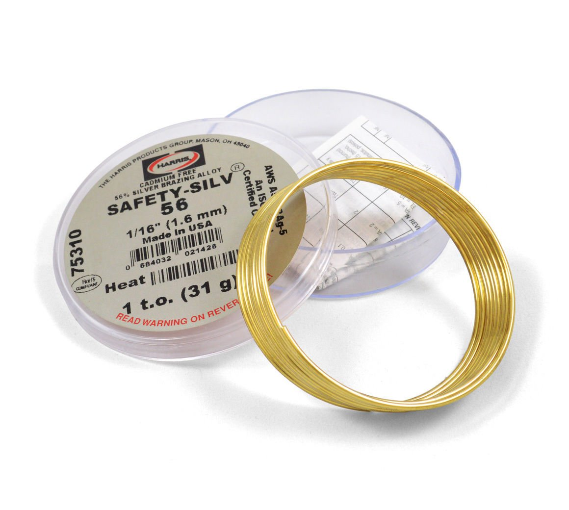 Harris Safety Silv 56% 1 16 Silver Solder Brazing Alloy 1 Troy Ounce 75310 5631