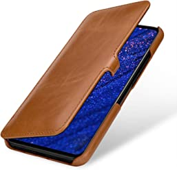 StilGut Custodia per Huawei Mate 20 Lite a Libro in Vera Pelle, Cognac con Clip
